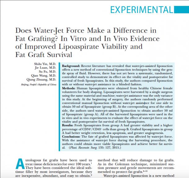 Studie zeigt den positiven Effekt der Wasserstrahl-Technik auf die Fettqualität